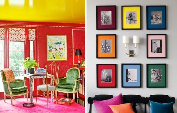 "Decoración con ""bloques de color"""